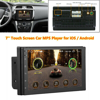 7'' Touch Screen Bluetooth USB Radio Stereo FM Car MP5 Player for iOS / Android