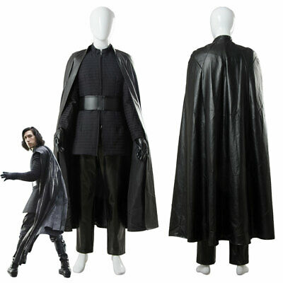 Star Wars 8 VIII The Last Jedi Kylo Ren Cosplay Costume Cape Outfit Cloak Suit