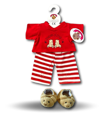 Teddy Bear Clothes fit Build a Bear Teddies Red Huggs Seasonal Outfit Clothing