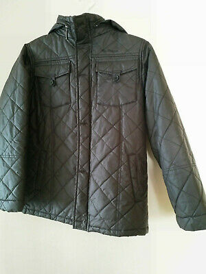 Boys Ben Sherman Padded Insulated Jacket Coat Hooded Black 11- 12yrs