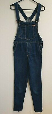 F69 Boys Young Set Faded Blue Skinny Denim Dungarees Age 11-12 Years W26 L30