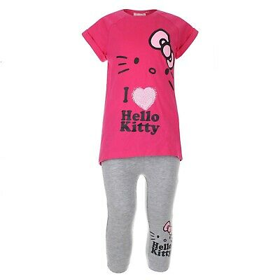 Hello Kitty - Girls Kids 2-Piece Outfit - Leggings and T-Shirt - Ages 9-10
