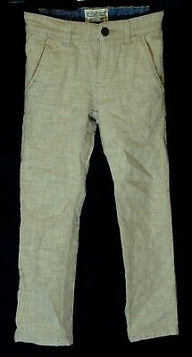 Boys Next Beige Light Brown Linen Blend Smart Casual Trousers Age 6 Years