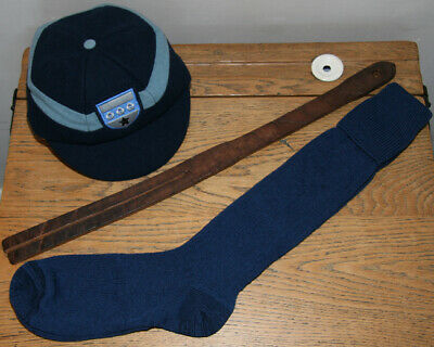 ADULT Sz 7-8 Vintage 80% Wool Heriot's Blue Turnover-Top School Knee Socks