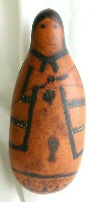 Vintage Peruvian Ethnic Gourd Shaker, Rattle from 1970s