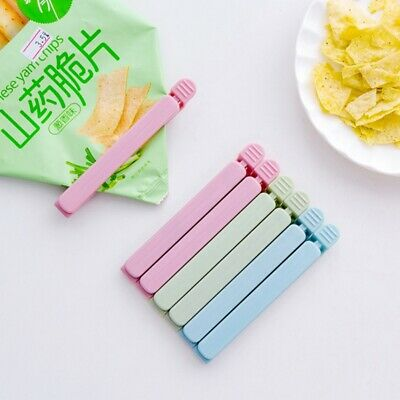 5 pcs Plastic Sealing Bag Clips Kitchen Storage Food Snack Seal Clamp Household