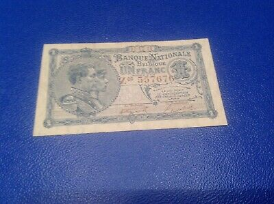 1 Belgium Francs banknote dated 1920
