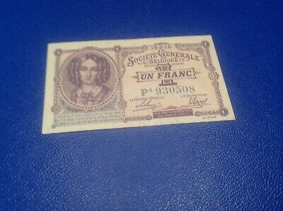 1 Belgium Francs banknote dated 1916