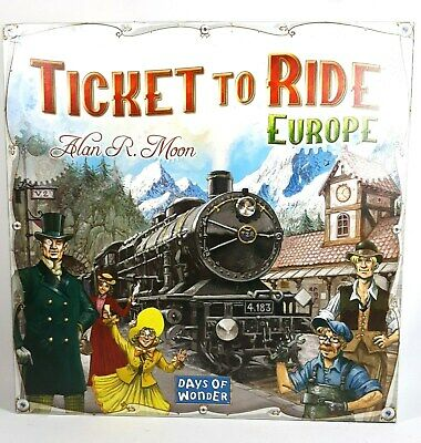 Ticket to Ride Europe Days of Wonder Board Game by Alan R. Moon Complete Game