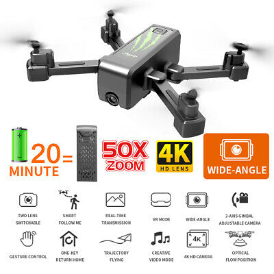 2020 RC Drones With 4KHD Camera x Pro 2-axis Gimbal WIFI FPV Foldable Quadcopter