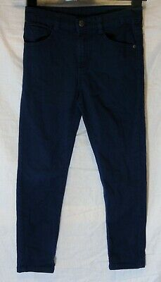 Boys F&F Dark Blue Colour Wash Denim Adjustable Waist Smart Jeans Age 8-9 Years