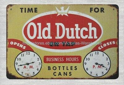 house decorations Time For Old Dutch on tap beer metal tin sign