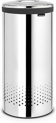 Brabantia Laundry Bin with Stainless Steel Lid 35L, Brilliant Steel