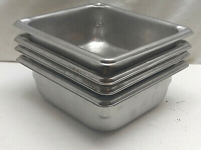 """Vollrath 30522 Super Pan 1/2 Size Long 4"""" Deep Stainless Steam Table Hotel Pan"""