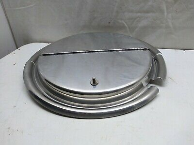 """Vollrath 10 7/8"""" Kool Touch® Stainless Steel Hinged Inset Sauce Pan Pot Cover"""