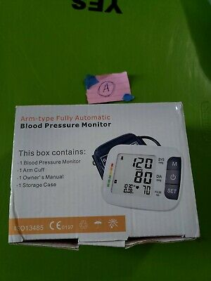 Arm Type Fully Automatic Blood Pressure Monitor Medical Health Home Care