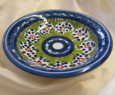 HANDPAINTED TRINKET DISH/BOWL SIGNED,from  SEVILLA SPAIN