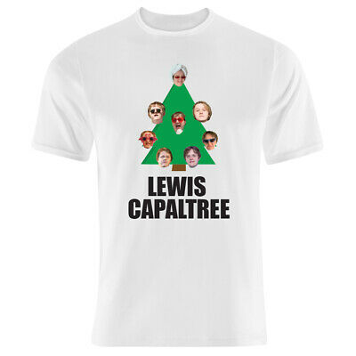 Capaldi Christmas Funny Adults /& Kids Sizes Lewis Capaltree T-Shirt Red