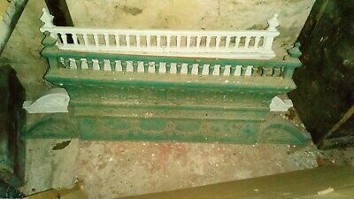 Rare original cast iron over door mantle pediment two available