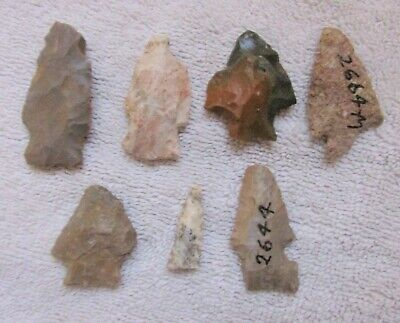7 Ancient Indian Arrowhead Stone Arrow Projectile Point Lee County Illinois