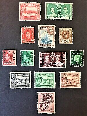LOT 13 Great Britain BRITISH COLONIES KING GEORGE VI KGVI Stamps 1937-1952 ++