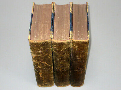 The COMPLETE WORKS of WILLIAM SHAKESPEARE (c1850) Leather Bound book Illustrated