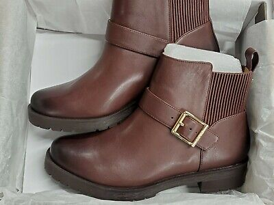 Vionic Mystic Mara CHOCOLATE BROWN  Leather  Ankle Boots Women's 8.5 M