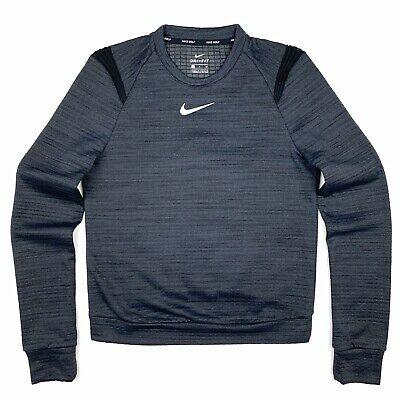 Nike Golf Dri-Fit Therma Sphere Womens Long Sleeve Top Charcoal Gray S 855247