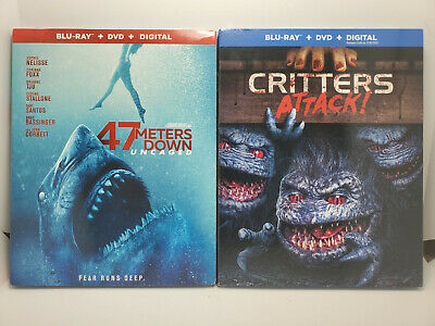 47 Meters Down Uncaged +Critters Attack! (Blu-ray+DVD+Digital Copy+Slip Covers)
