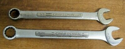 """2 Craftsman Combination Wrenches 5/8"""" V"""" & 11/16"""" VV 44698 Forged inUSA"""
