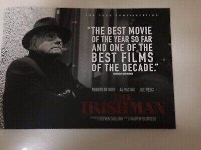 The Irishman Program Martin Scorsese Robert De Niro Al Pacino Joe Pesci New