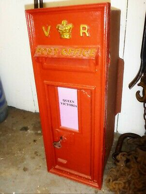 Original Genuine Victorian Vr Post Box Postbox - Old Letter Wall Box Letterbox
