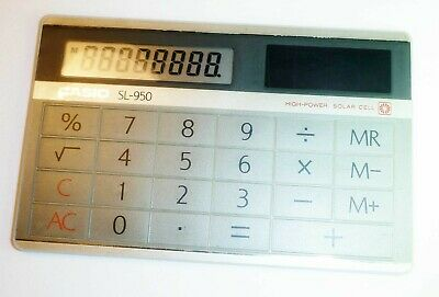 Casio Sl-950 Slimline Slim Solar Power Credit Card Calculator - Vintage Retro