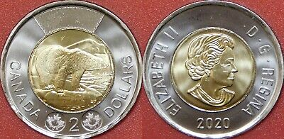 Brilliant Uncirculated 2020 Canada 2 Dollars From Mint's Roll
