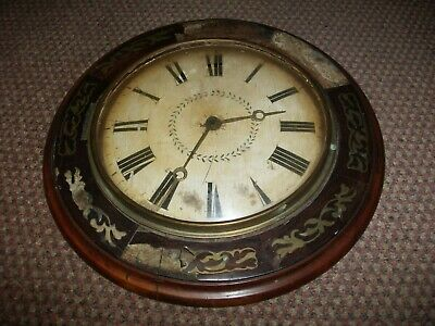 Antique German Black Forest Postman's Alarm Wall Clock For Restoration