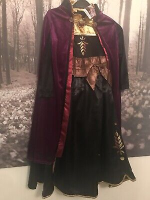 Disney Frozen 2 II Anna Black Costume Dress Up Complete Outfit Age 8/9 Years