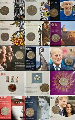 Royal Mint Brilliant Uncirculated £5 Five Pounds Crown Coin Original Pack