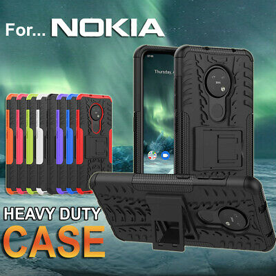 Nokia 7.2 /6.2 Shockproof Heavy Duty Case Cover +Tempered Glass Screen Protector