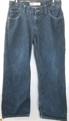 Levis Boys Medium Wash Blue 550 Relaxed Fit Jeans 10 Husky 30 X 26 Adjustable