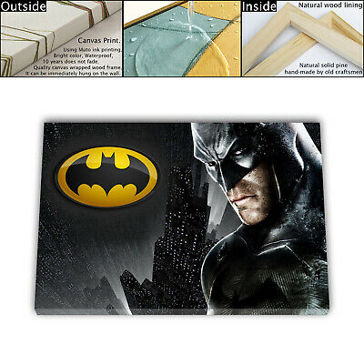 "16""x26"" Movies Arkham Painting HD Canvas print Framed Home decor Wall art Poster"