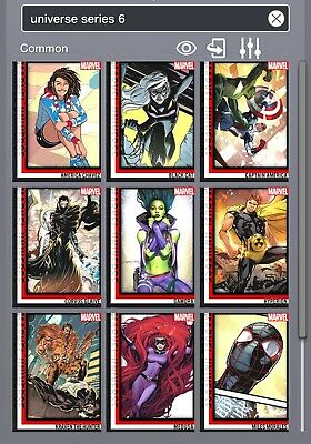 Topps Marvel Collect Universe Series 6 Complete Set Award Ready *Digital Cards*