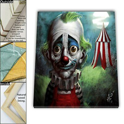 "16""x16"" Sad Clown Paintings HD Canva prints Framed Home decor Wall art Pictures"