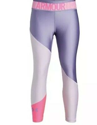 New Without Tags Girls Under Armour Heatgear ,armour Colorblock Ankle Leggings