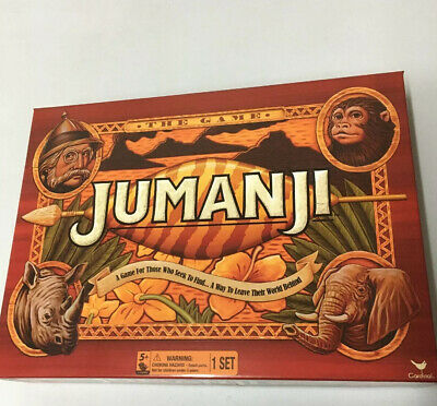 JUMANJI BOX BOARD GAME Full Sized CARDINAL 2017 EDITION, See Description M135