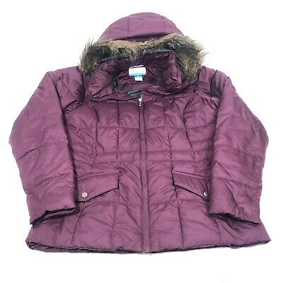 Columbia womens sportswear company  quilted jacket ,  Color : Burgundy , Size: M