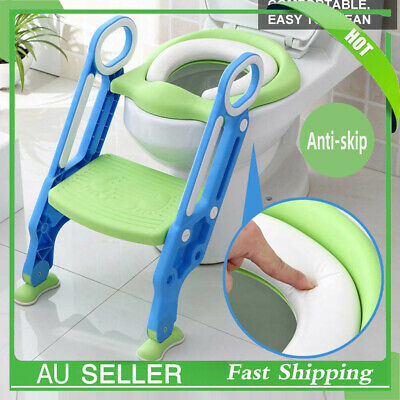 Non Slip Kids Toilet Ladder Baby Toddler Training Toilet Step Potty Seat Trainer