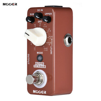 Mooer Octave Octave Guitar Effect Pedal 11 Octave Modes True Bypass H2B0