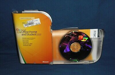 Microsoft Office Home and Student 2007 in Retail Box + Product Key ~ Computer PC