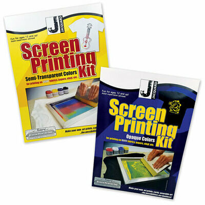 Jacquard Screen Printing Kits - Opaque & Semi Transparent - Light & Dark Fabrics