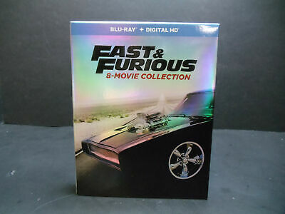 Fast and Furious: 8-Movie Collection (Blu-ray Disc, 2019, 9-Disc Set)